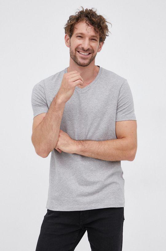 jasny szary Hugo - T-shirt (2-pack) Męski