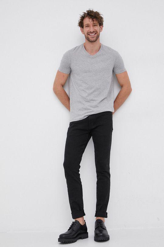Hugo - T-shirt (2-pack) jasny szary