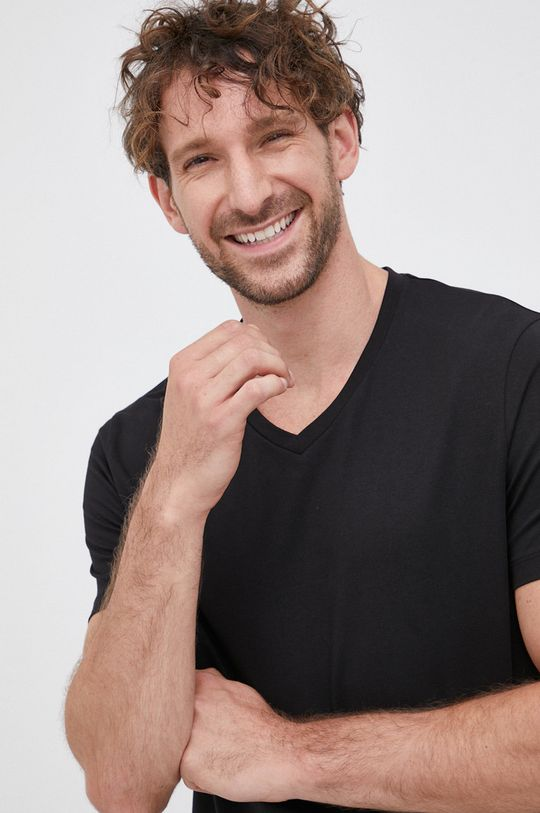 Hugo - T-shirt (2-pack) czarny