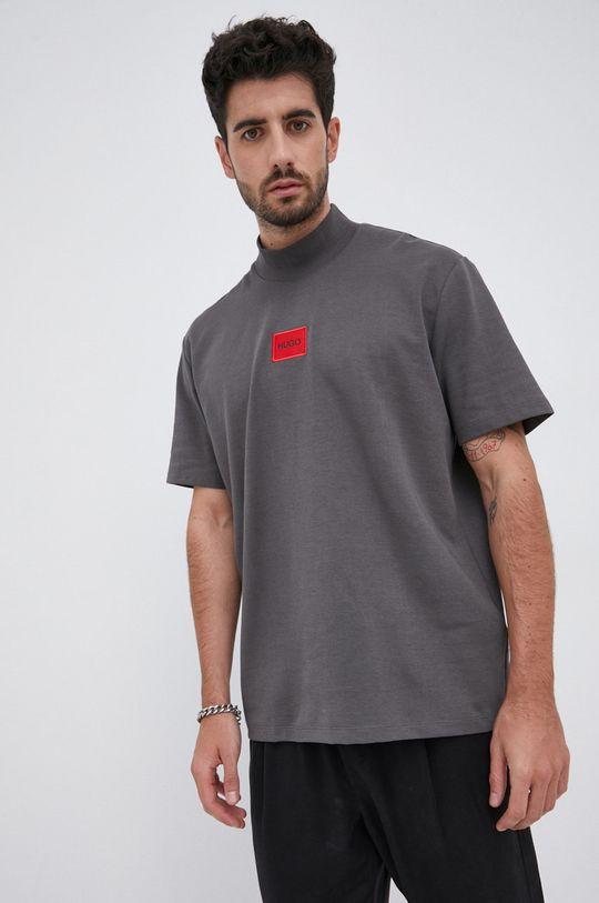 szary Hugo - T-shirt Męski