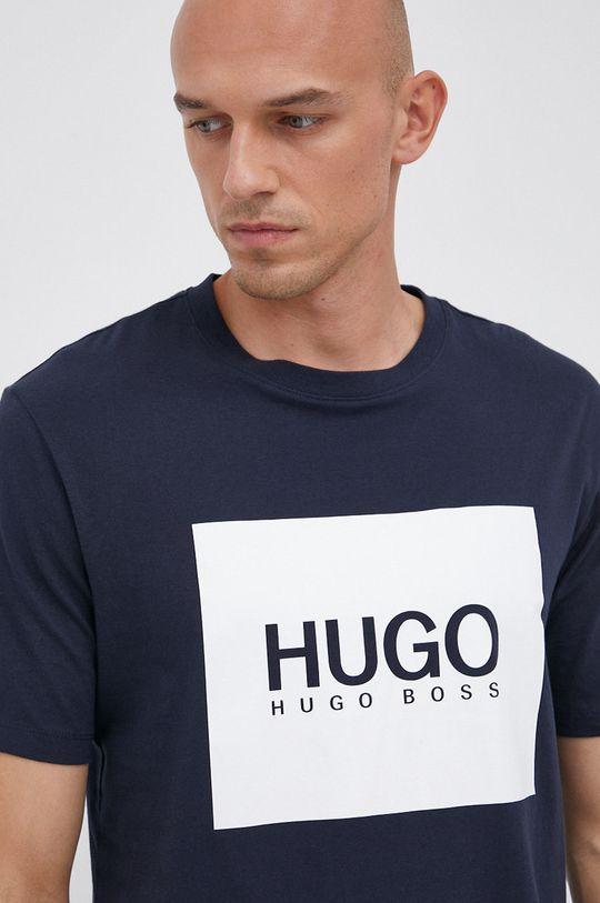 granatowy Hugo - T-shirt bawełniany