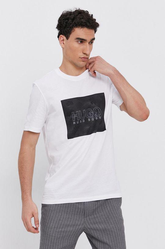 biały Hugo - T-shirt bawełniany Męski