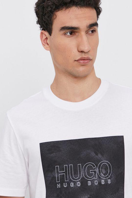 biały Hugo - T-shirt bawełniany