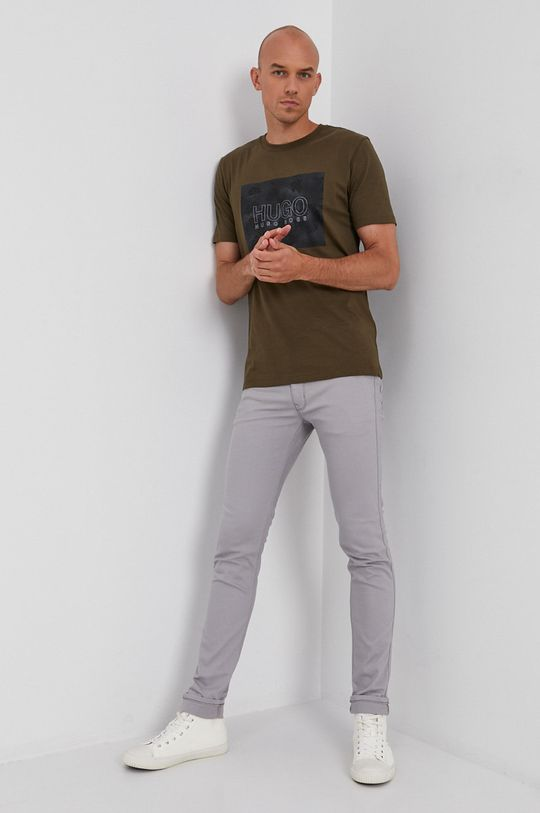 Hugo - T-shirt bawełniany zielony