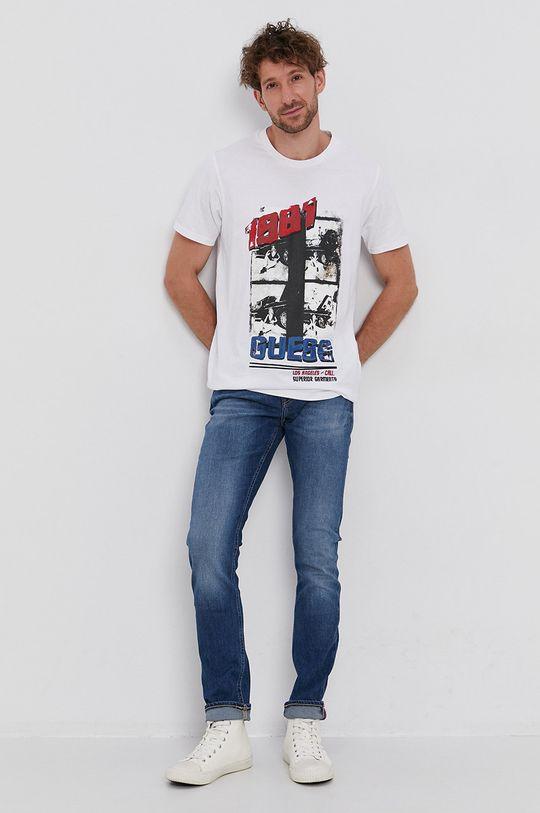 Guess - T-shirt bawełniany biały