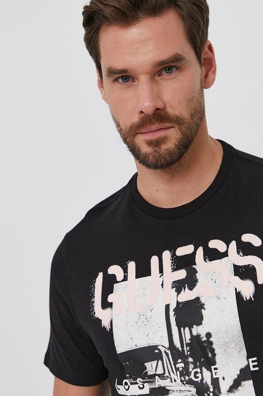 čierna Guess - Bavlnené tričko