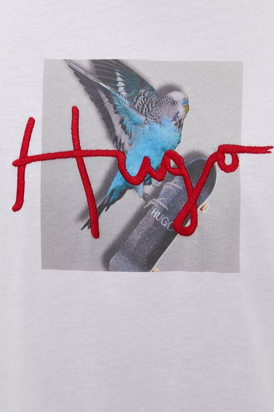 Hugo - T-shirt bawełniany Męski