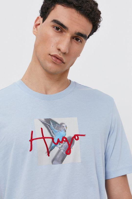 jasny niebieski Hugo - T-shirt bawełniany