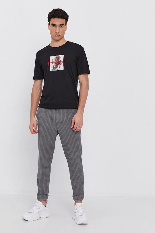 Hugo - T-shirt bawełniany czarny