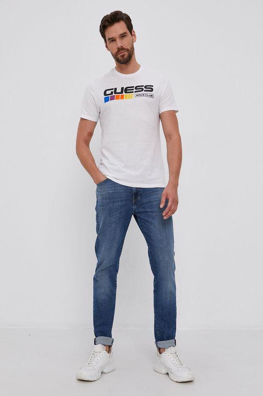 Guess - Tricou din bumbac alb