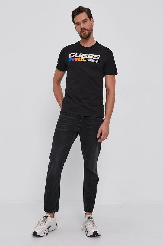 Guess - T-shirt bawełniany czarny