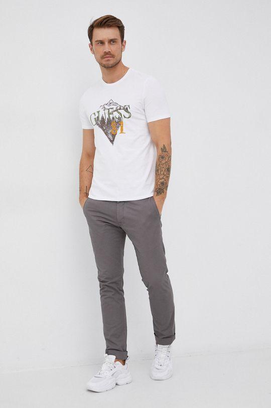 Guess - T-shirt biały