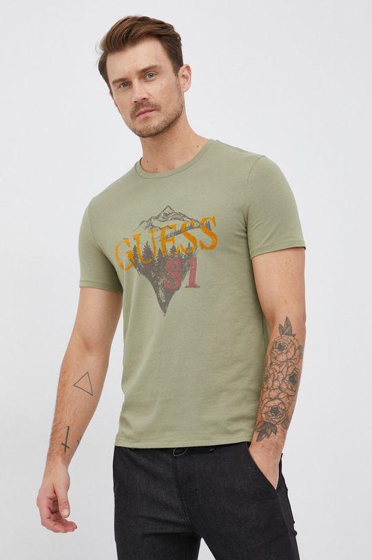 brudny zielony Guess - T-shirt