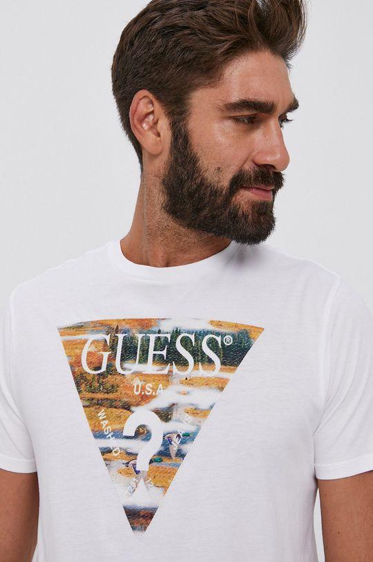 biały Guess - T-shirt bawełniany