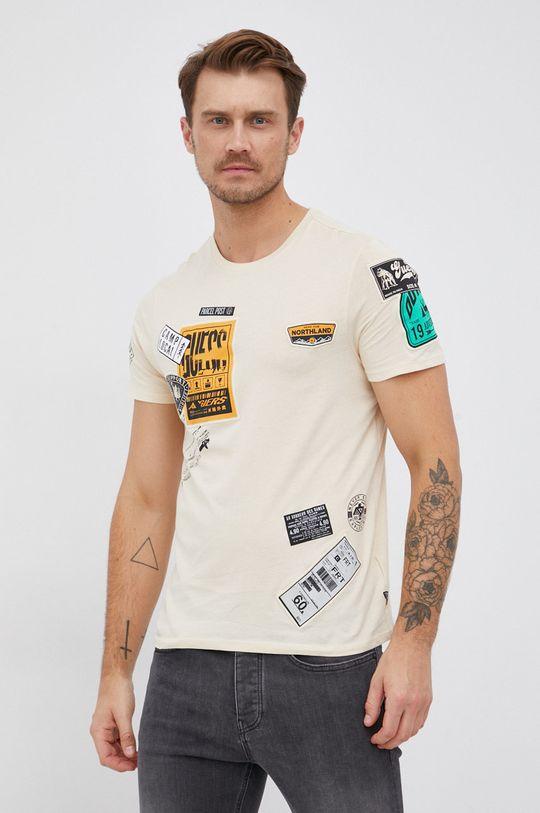 smetanová Guess - Bavlněné tričko Pánský