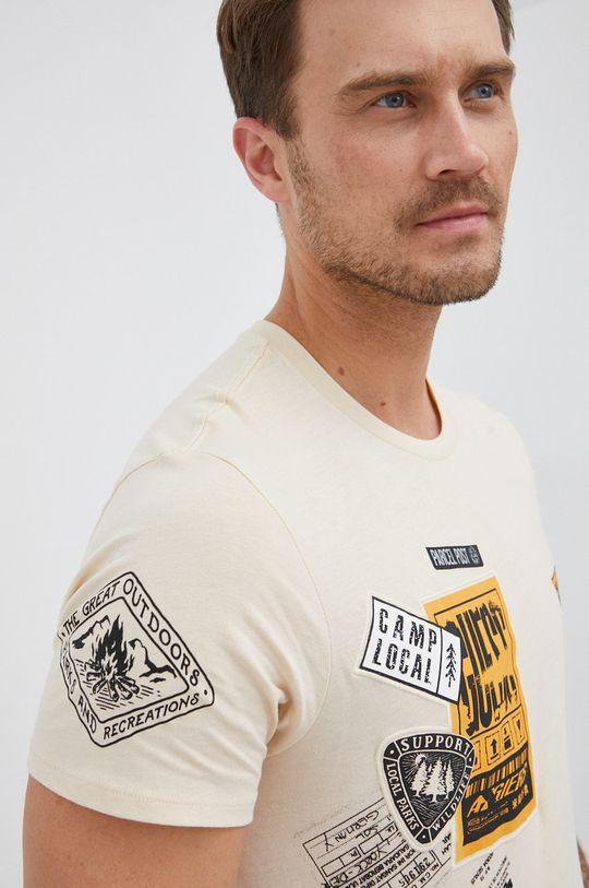 smetanová Guess - Bavlněné tričko