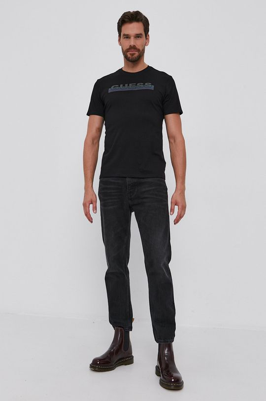 Guess - Tricou din bumbac negru