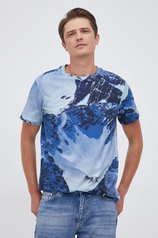 niebieski Guess - T-shirt bawełniany Męski