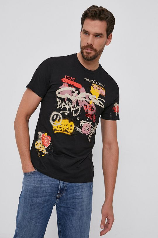 negru Guess - Tricou din bumbac