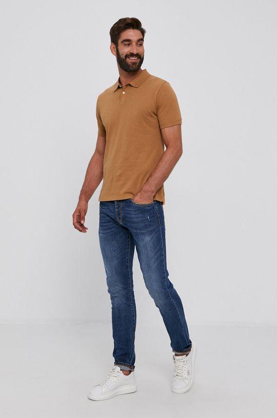 s. Oliver - Polo tričko hnedá