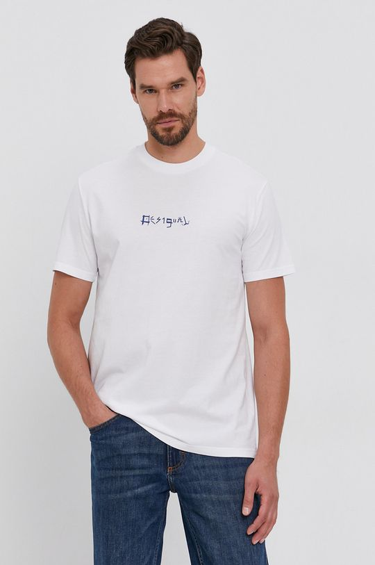 Desigual - Tricou din bumbac  100% Bumbac