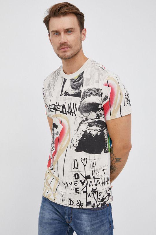 tělová Desigual - Bavlněné tričko