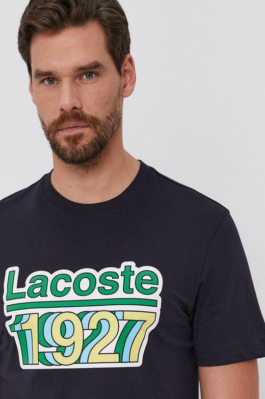 bleumarin Lacoste - Tricou din bumbac