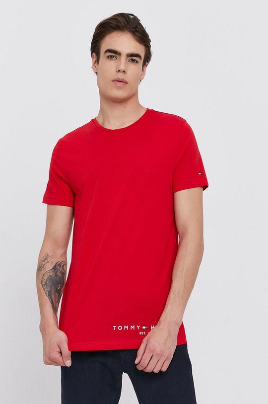 czerwony Tommy Hilfiger - T-shirt bawełniany Męski