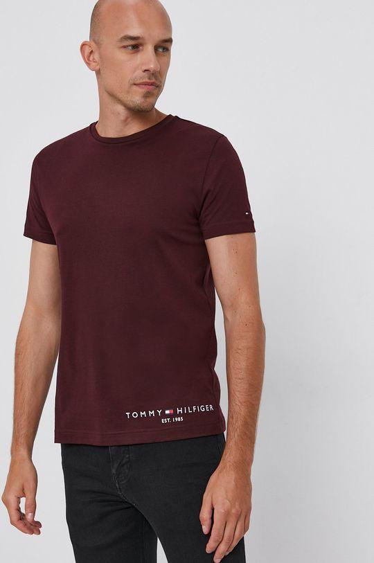 kasztanowy Tommy Hilfiger - T-shirt bawełniany Męski