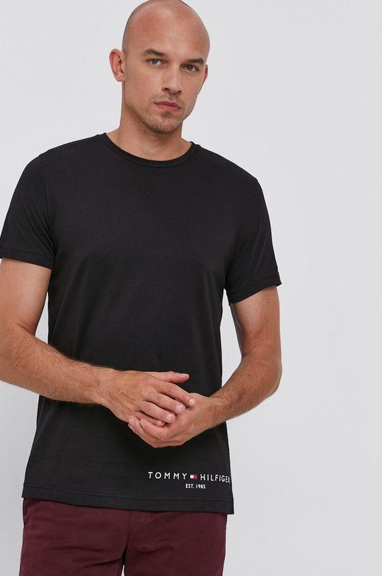 czarny Tommy Hilfiger - T-shirt bawełniany Męski