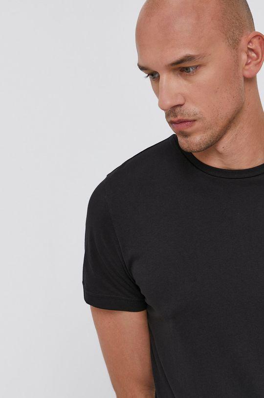 czarny Tommy Hilfiger - T-shirt bawełniany