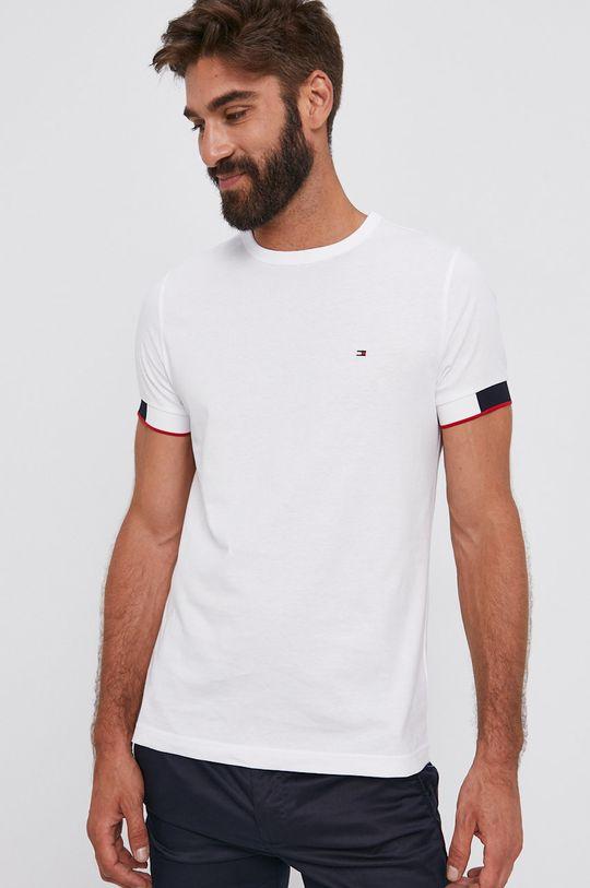 biela Tommy Hilfiger - Bavlnené tričko Pánsky