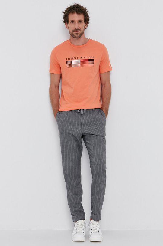 Tommy Hilfiger - T-shirt pomarańczowy