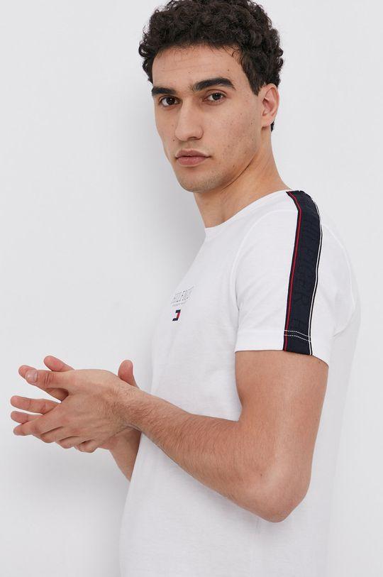 biały Tommy Hilfiger - T-shirt bawełniany