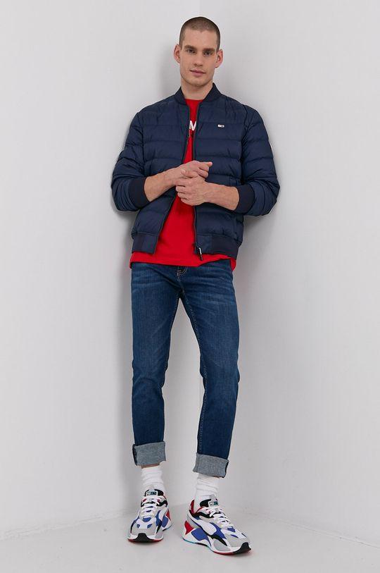 Tommy Jeans - Bavlněné tričko červená