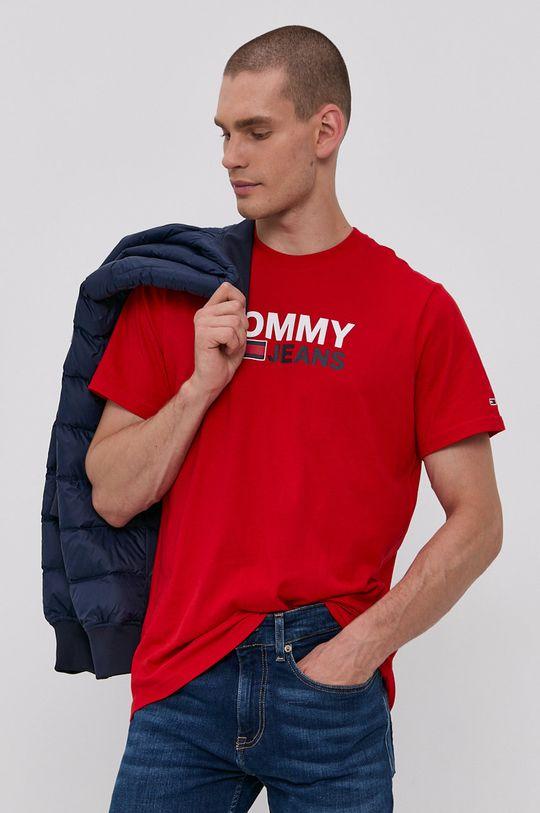 červená Tommy Jeans - Bavlněné tričko