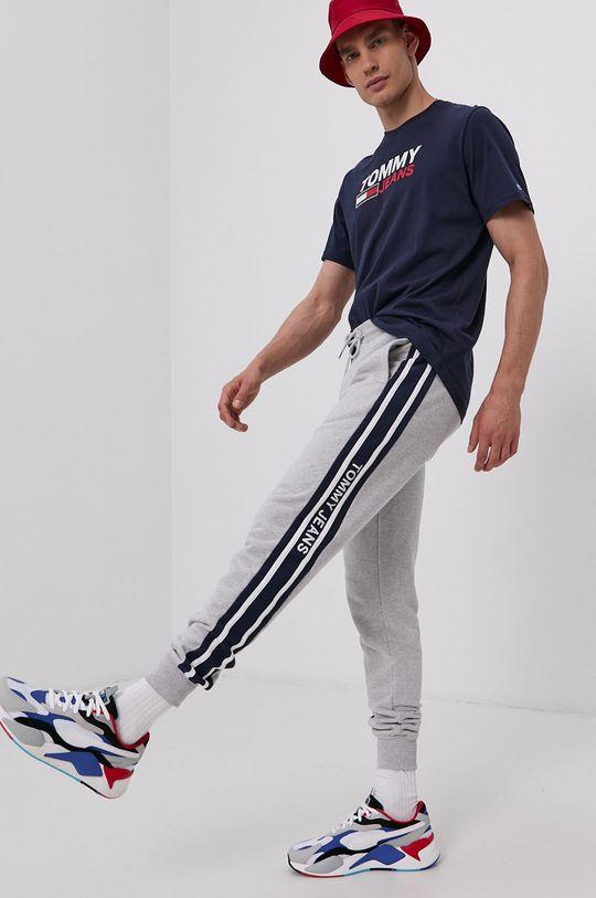 Tommy Jeans - T-shirt bawełniany granatowy