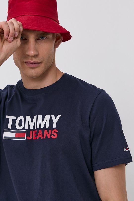granatowy Tommy Jeans - T-shirt bawełniany