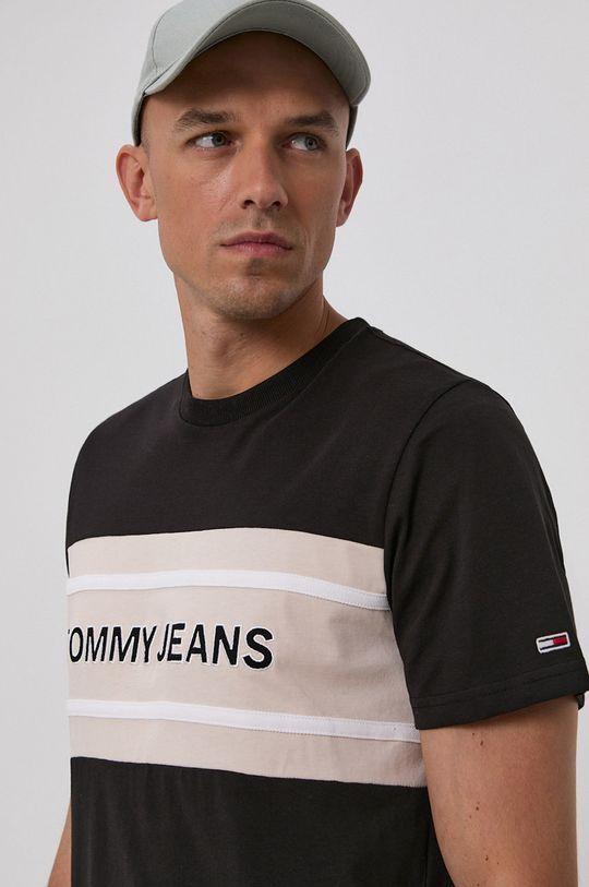 czarny Tommy Jeans - T-shirt bawełniany