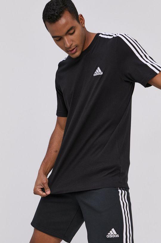 czarny adidas - T-shirt Męski