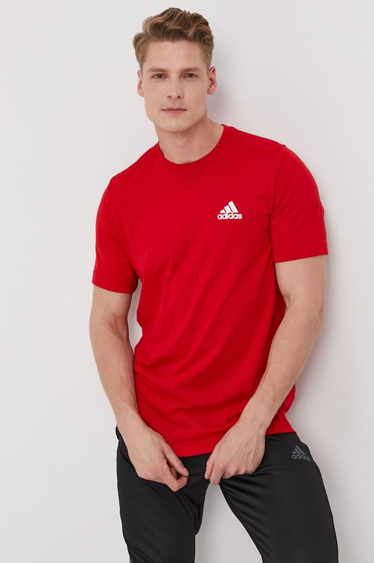červená adidas - Tričko Pánský