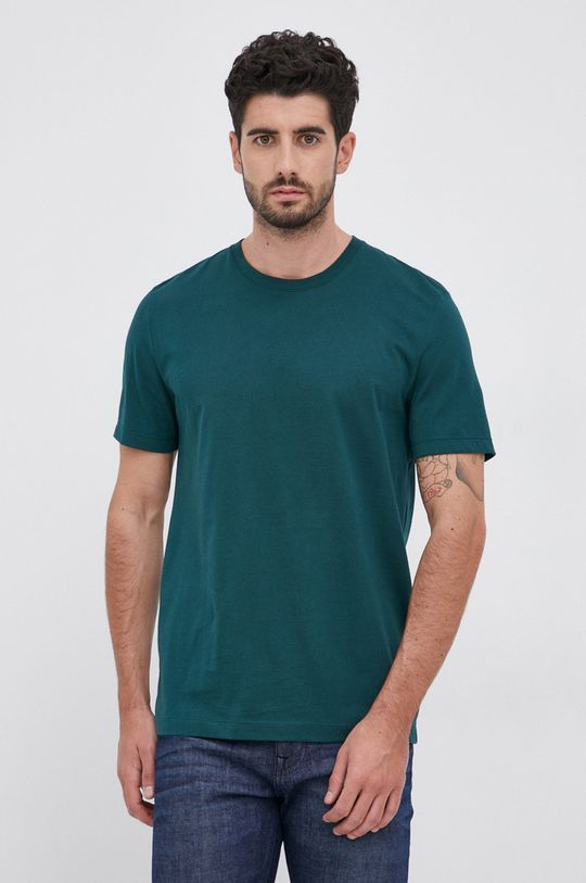 ciemny zielony Boss - T-shirt bawełniany Męski