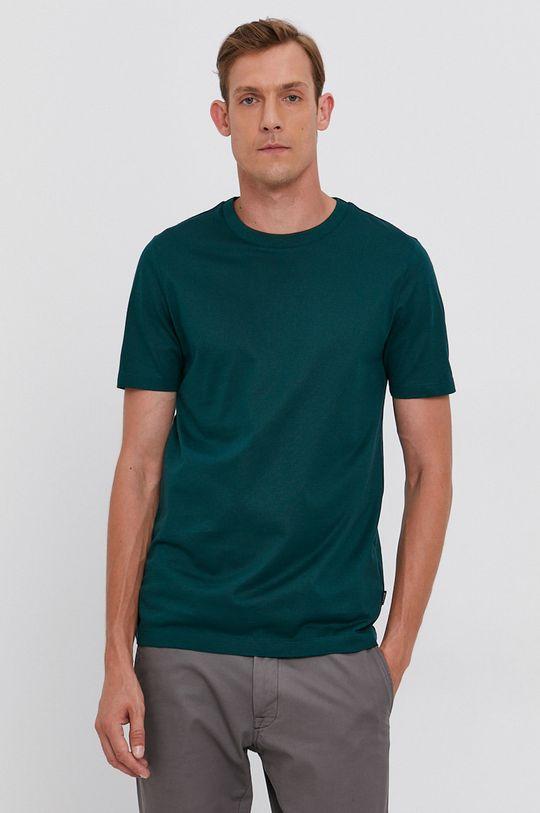 ciemny zielony Boss - T-shirt Męski