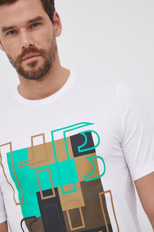 biały Boss - T-shirt bawełniany