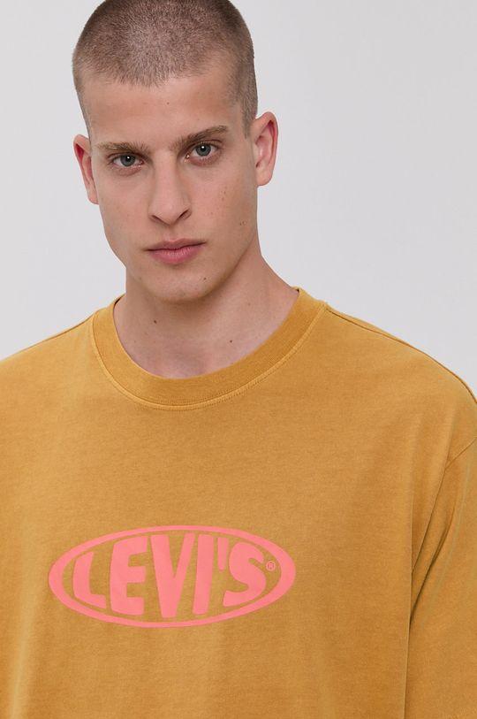 żółty Levi's - T-shirt bawełniany