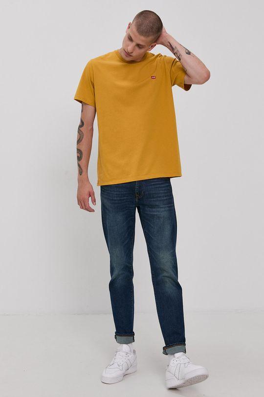 Levi's - Bavlněné tričko žlutá