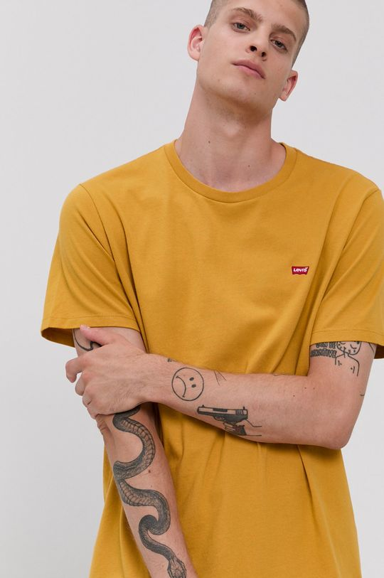 žlutá Levi's - Bavlněné tričko