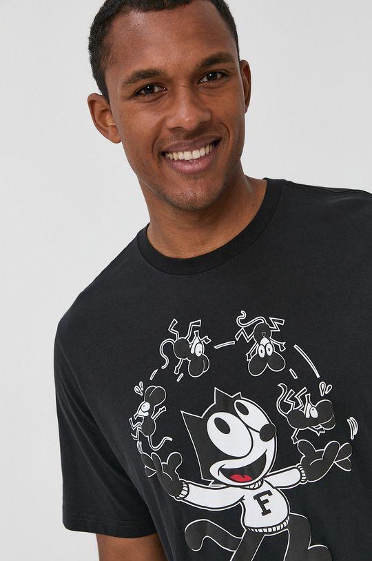 czarny Levi's - T-shirt bawełniany x Felix The Cat Męski