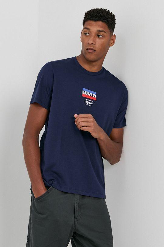 granatowy Levi's - T-shirt bawełniany
