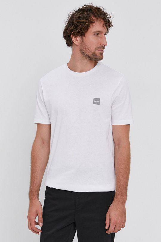 biały Boss - T-shirt bawełniany Męski